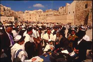 Jerusalem - barmitzvah at the Western Wall/the Wailing Wall